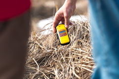 Geiger counter in polluted environment Stock Image