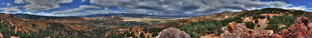 Geiger Lookout Wayside Park Nevada Panorama. On a cloudy day Stock Image