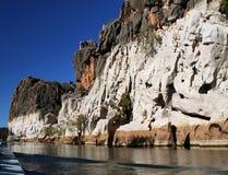 geikie峡谷kimberley 库存照片