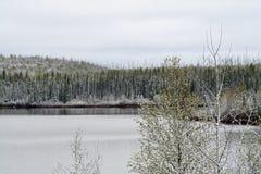 Geikie flod i Saskatchewan Arkivfoton