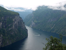 Geirange Fjord Royalty Free Stock Images