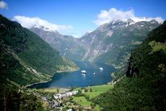 Geiranger峡湾挪威 图库摄影