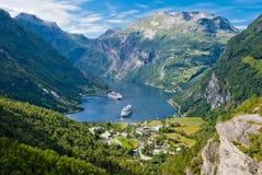 geiranger Норвегия фьорда Стоковое фото RF
