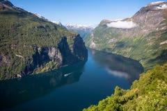 geiranger Норвегия фьорда Стоковые Фото