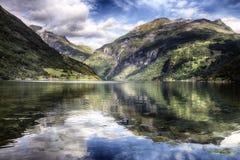 geiranger Норвегия фьорда Стоковое Изображение RF