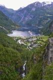 geiranger Норвегия фьорда Стоковая Фотография RF