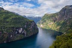 geiranger Норвегия Стоковые Изображения RF