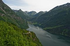 Geiranger Norway fjord Royalty Free Stock Image