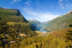 Geiranger autumn. Royalty Free Stock Photos