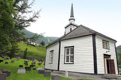 Geiranger church and cemeteries Norway. Stock Photos