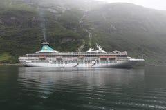 Geiranger cruise ship Stock Photos