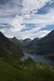 Geiranger en Norvège Images libres de droits