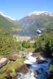 Geiranger en Norvège Photographie stock libre de droits