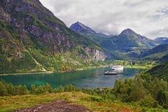 Geiranger fiord Stock Image
