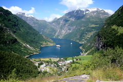 Geiranger Fiord Norway Royalty Free Stock Images