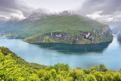 Geiranger Fiord Stock Photo