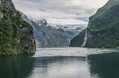 Geiranger fiord Stock Images