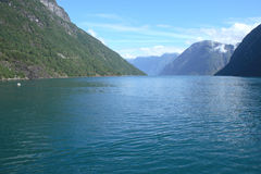 Geiranger fjord. View of one of the Norwegian fjords Stock Photos