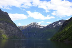 Geiranger fjord Royalty Free Stock Image