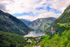 Geiranger fjord. In Norway, Scandinavia Royalty Free Stock Photos