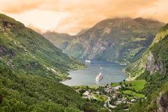 Geiranger fjord Stock Photos
