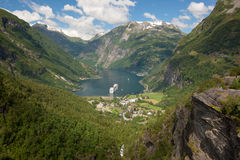 Geiranger fjord Royalty Free Stock Photography