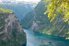 Geiranger fjord Stock Photography