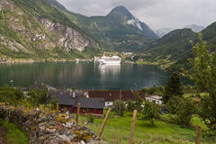 Geiranger Fjord stockfotografie