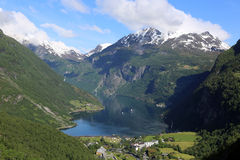 Geiranger Fjord. Seen from Dalsnibba. Norway Stock Photo