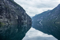 Geiranger fjord Royalty Free Stock Images