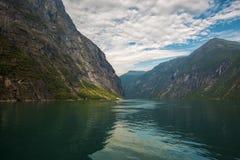 Geiranger Fjord Lizenzfreie Stockbilder