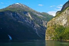 Geiranger Fjord Stockbild