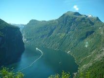 Geiranger Fjord Lizenzfreies Stockfoto
