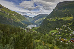 Geiranger fjord, Beautiful Nature Norway Royalty Free Stock Image