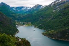 Geiranger fjord Royalty Free Stock Image