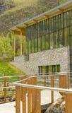 Geiranger fjord center Stock Image