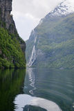 Geiranger fjord landscape Royalty Free Stock Photography