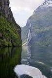 Geiranger fjord landscape Royalty Free Stock Photos