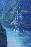 Geiranger fjord. Landscape scenic view Stock Photography