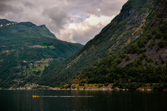 Geiranger fjord Royalty Free Stock Photo