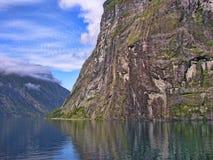 Geiranger Fjord, Norge Arkivfoto