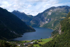 Geiranger fjord in Norway Royalty Free Stock Images
