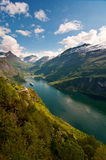 Geiranger Fjord (Norway). Geiranger Fjord (Norway - Scandinavia - Europe) with cruise ships Stock Photography