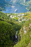 Geiranger Fjord, Norway royalty free stock image
