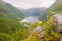 Geiranger fjord Norway Royalty Free Stock Image