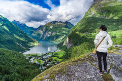 Free Geiranger Fjord, Norway. Stock Images - 77086654