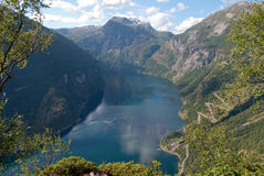 Geiranger fjord in Norway Stock Photography