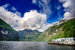 Geiranger fjord, Norway. Stock Image