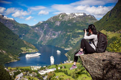Geiranger fjord, Norway. Stock Photography