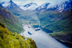 Geiranger fjord, Norway. Stock Photo